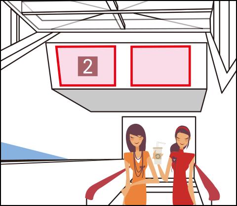 駅電照ボード/コンコース、階段、ホームなど ※掲出期間:6ヶ月